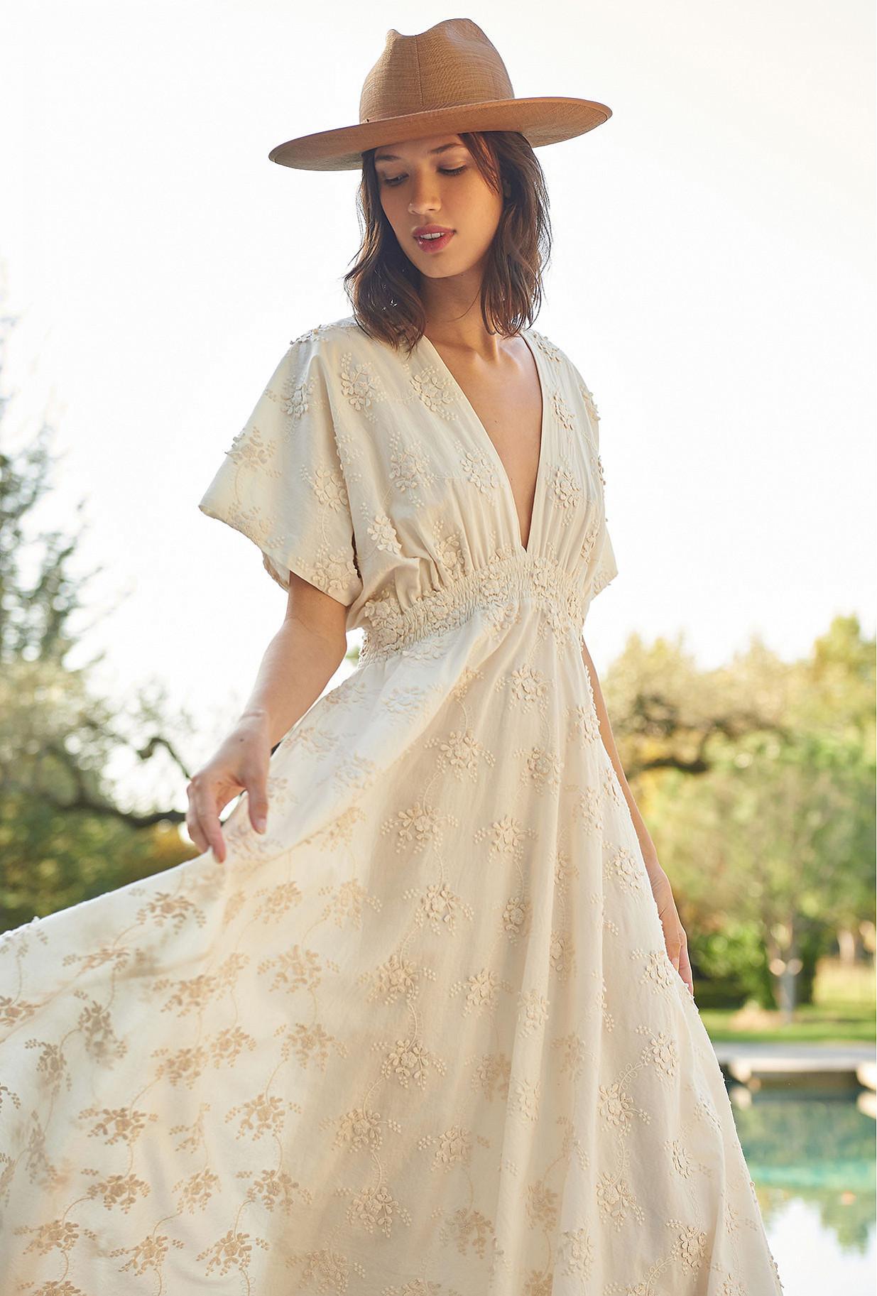 Ecru  Dress  Ophidis Mes demoiselles fashion clothes designer Paris