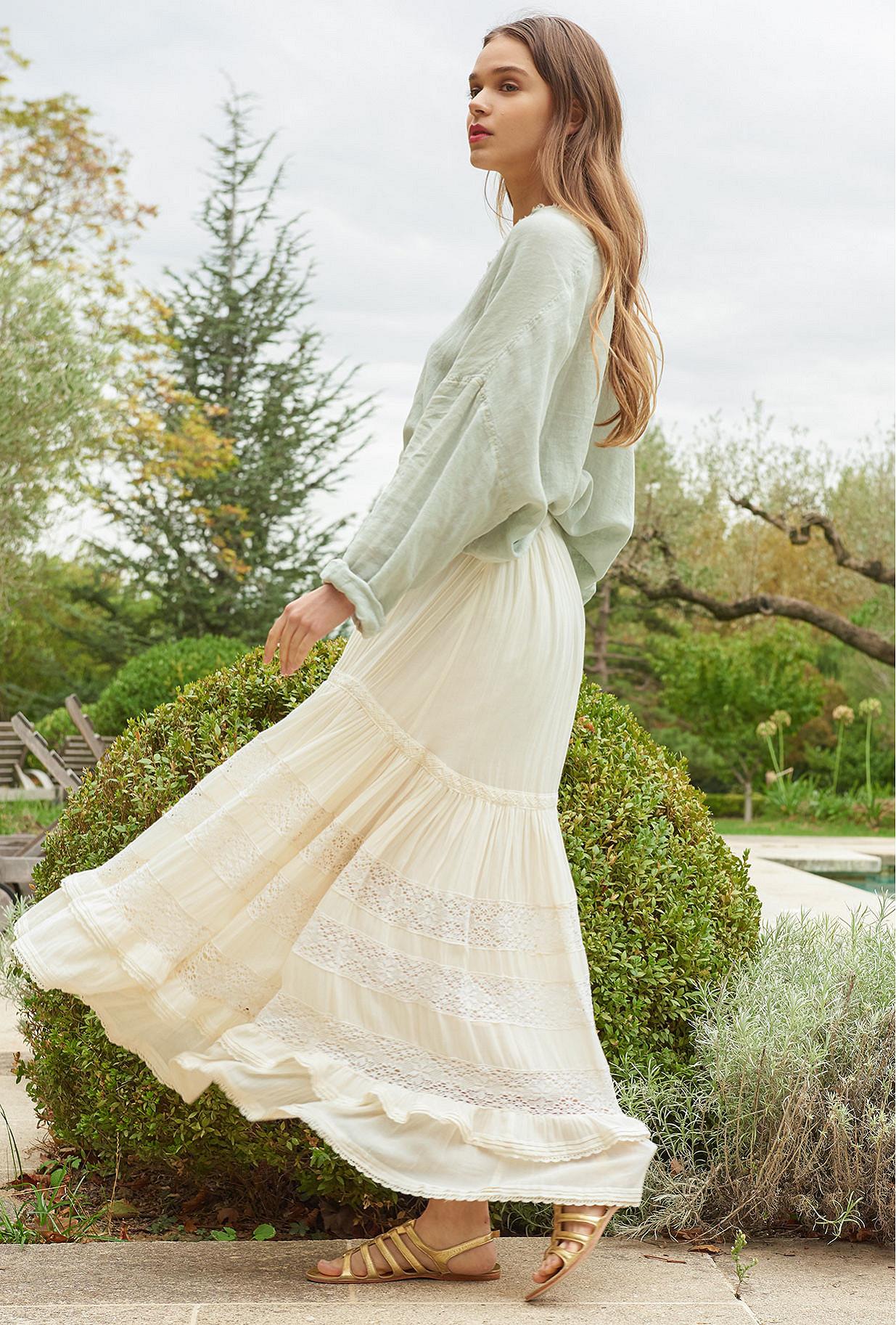 Jupe Blanc  Gretchen mes demoiselles paris vêtement femme paris