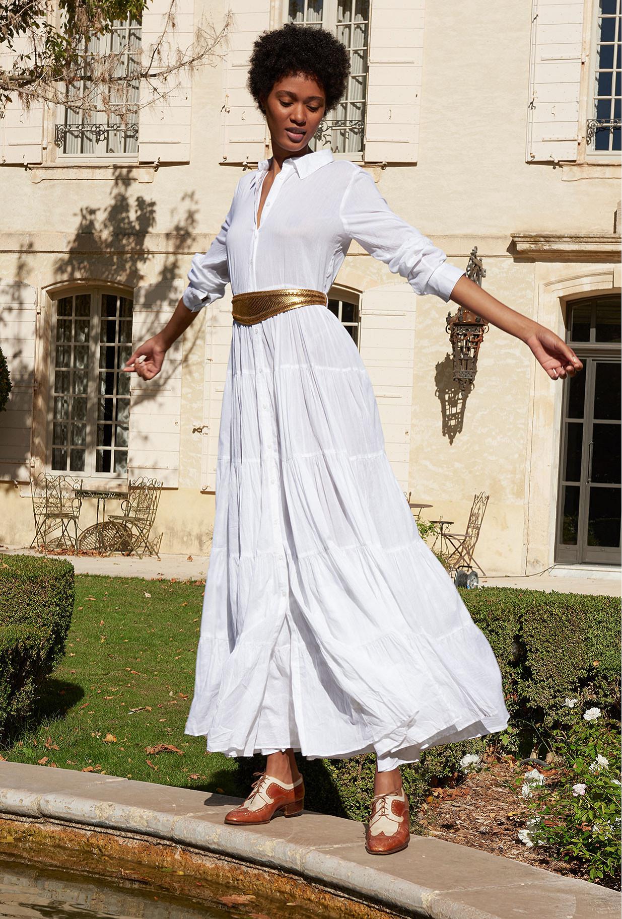 White  Dress  Calam Mes demoiselles fashion clothes designer Paris