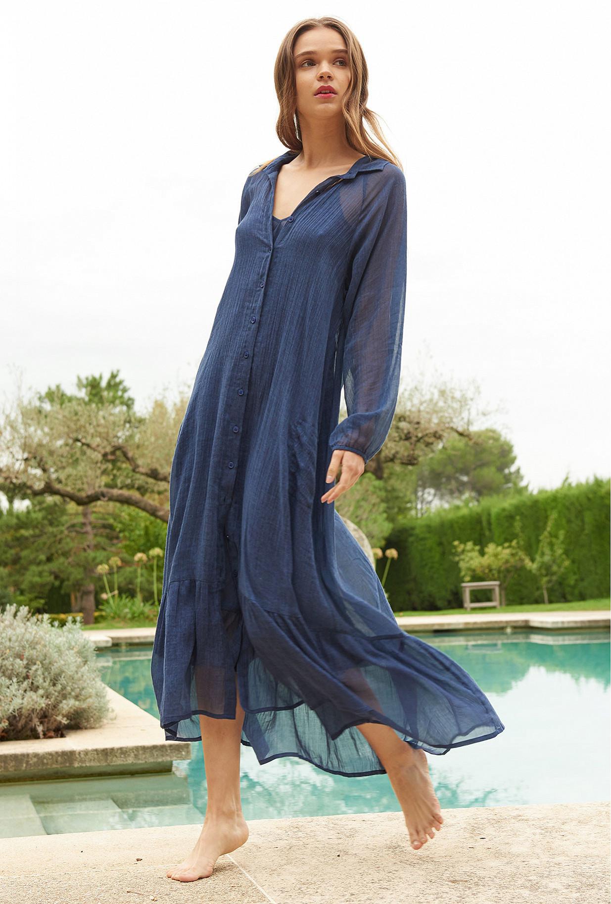 Indigo Dress Chambellan