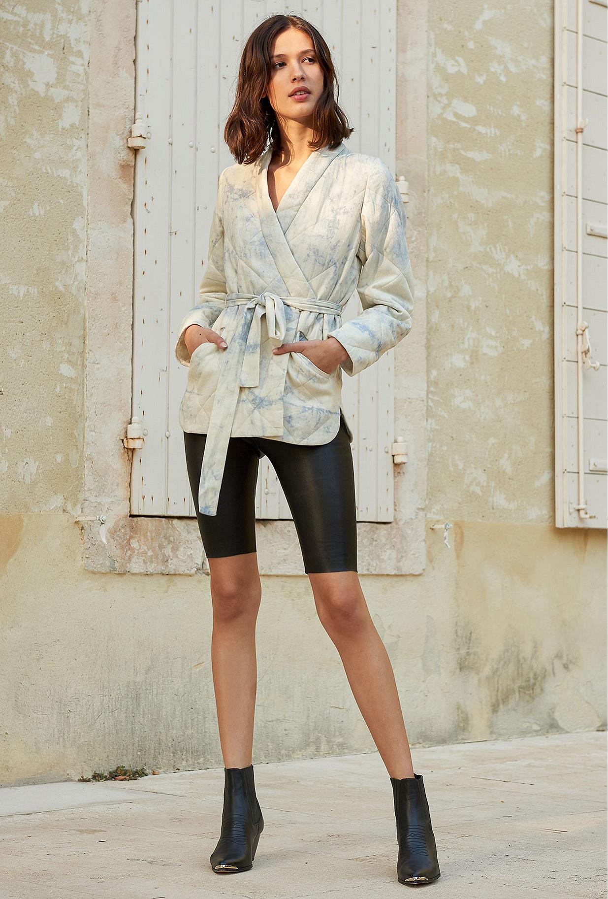 Blue combo  Kimono  Cumulus Mes demoiselles fashion clothes designer Paris