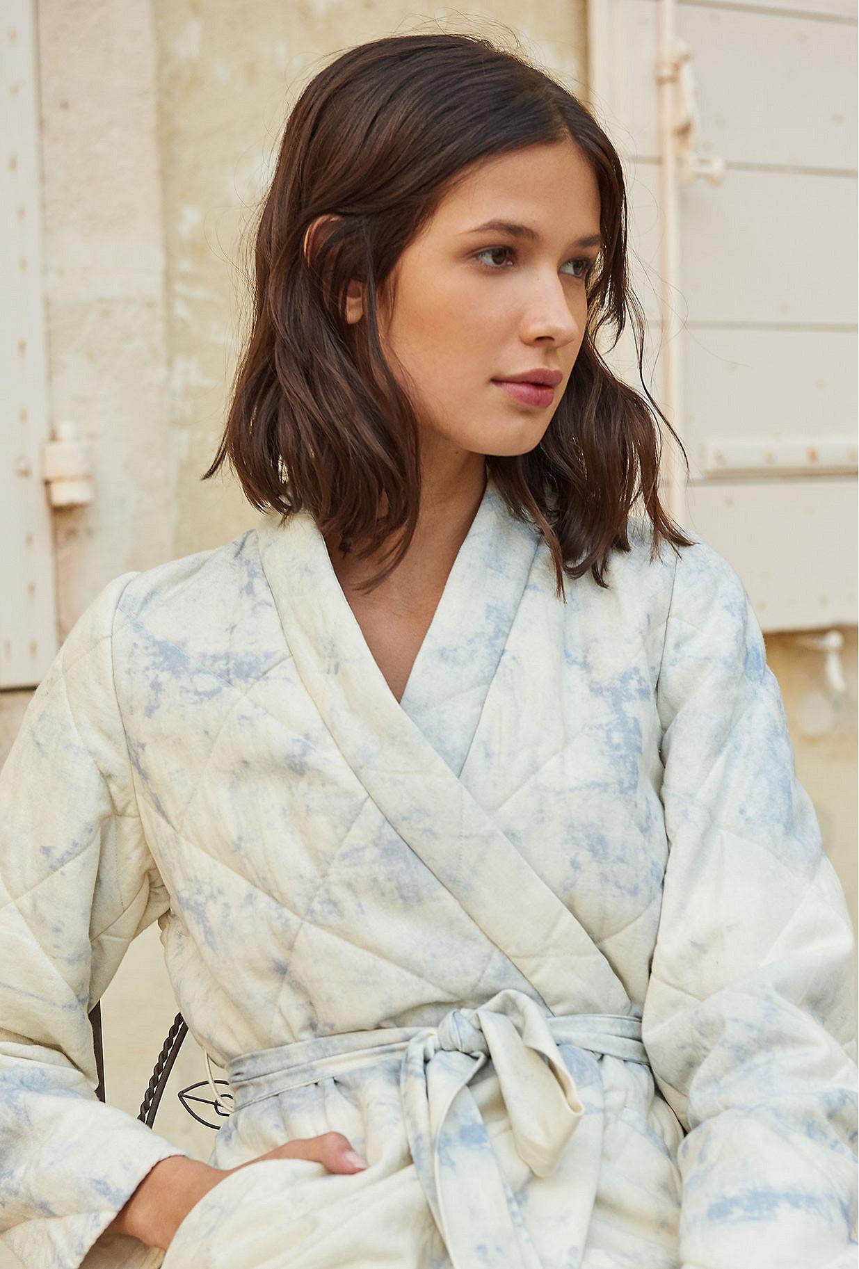 Kimono Bleu ciel  Cumulus mes demoiselles paris vêtement femme paris