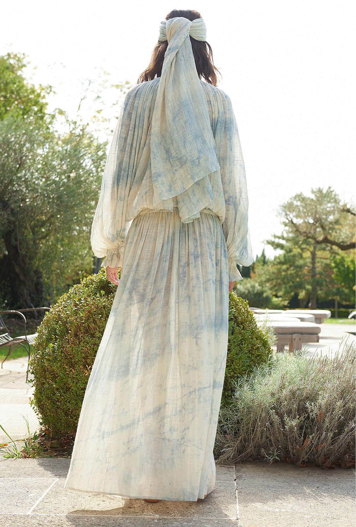 Robe Bleu glacier  Volante mes demoiselles paris vêtement femme paris