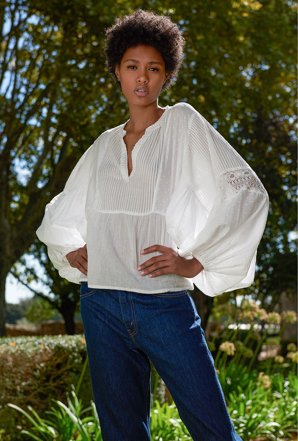 White  Blouse  Angela Mes demoiselles fashion clothes designer Paris