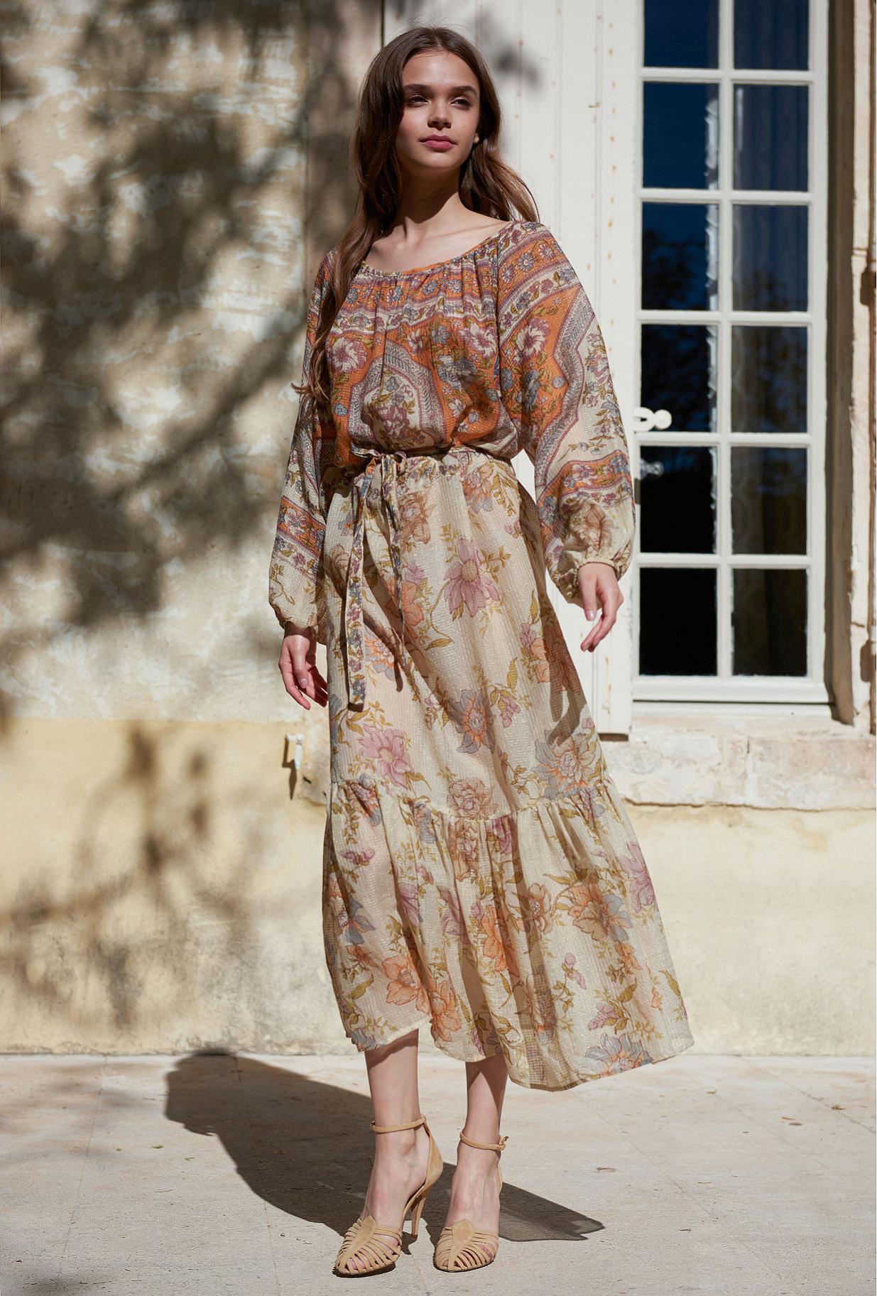 Floral combo  Dress  Reunion Mes demoiselles fashion clothes designer Paris
