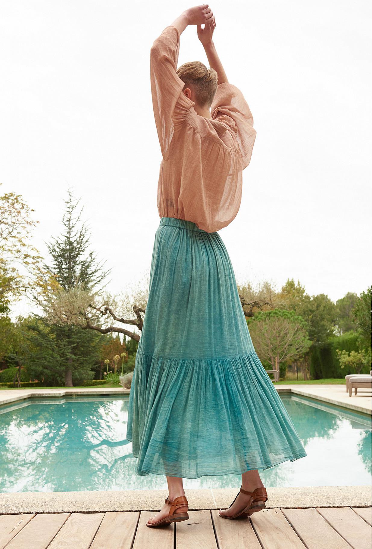 Blue  Skirt  Palette Mes demoiselles fashion clothes designer Paris