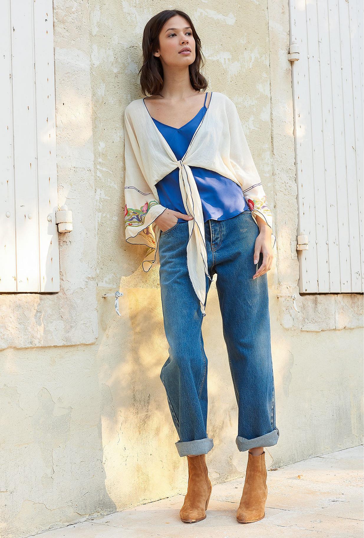 Ecru print  Kimono  Conventry Mes demoiselles fashion clothes designer Paris
