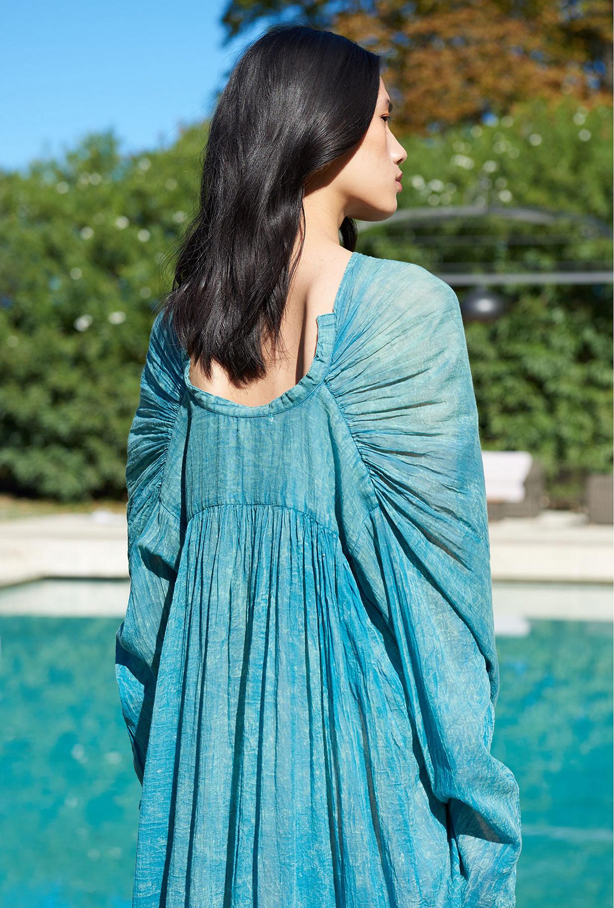 Robe Bleu  Painting mes demoiselles paris vêtement femme paris