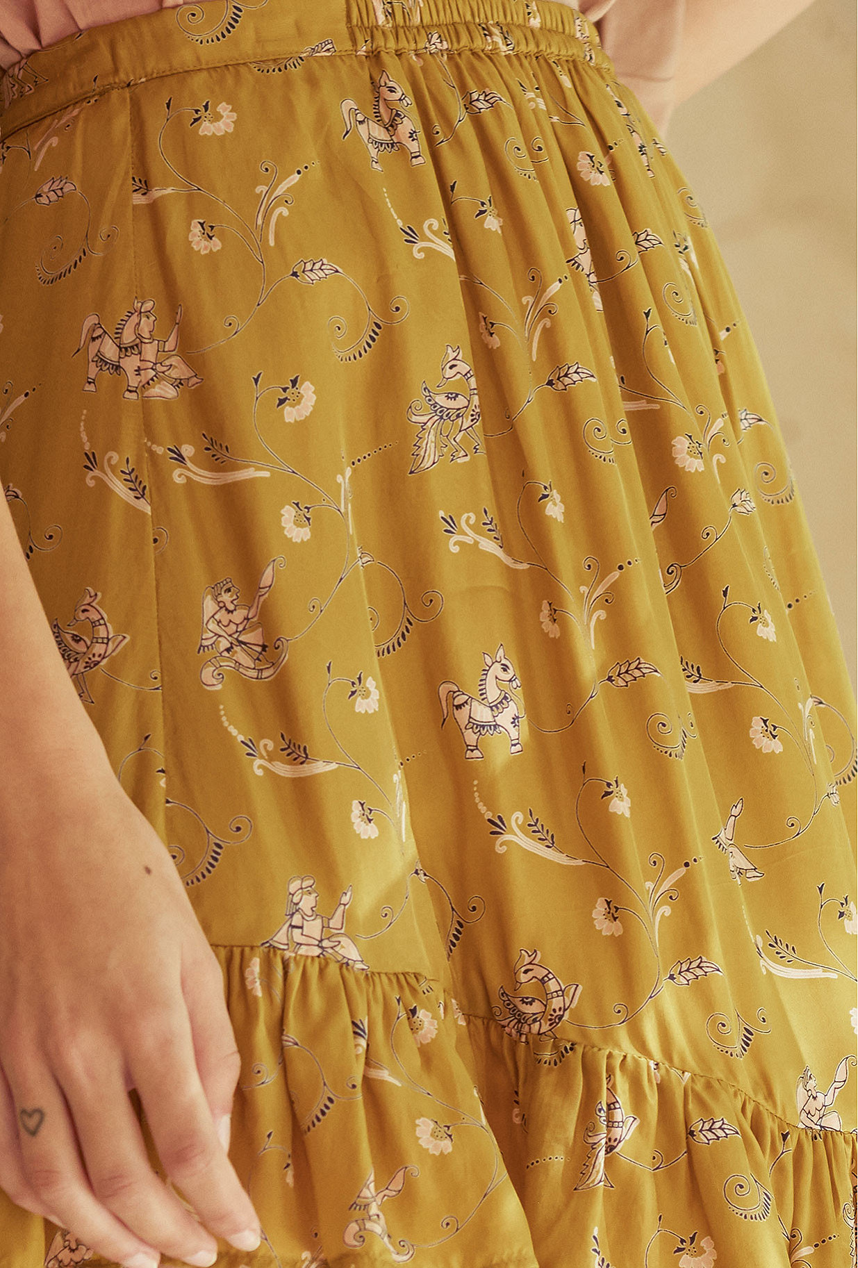 Khaki print  Skirt  Bamba Mes demoiselles fashion clothes designer Paris