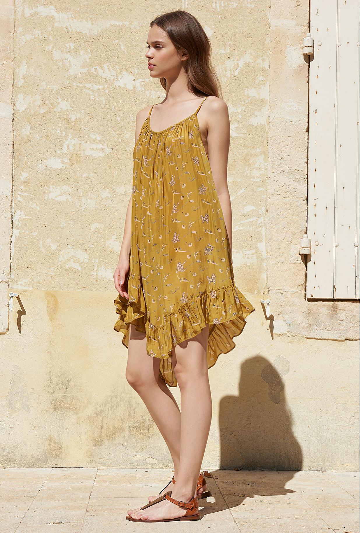 Khaki print  Dress  Bambina Mes demoiselles fashion clothes designer Paris