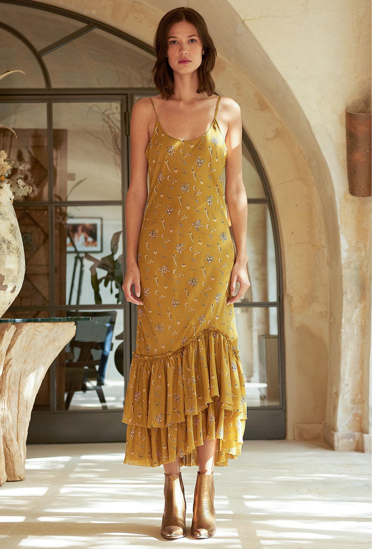 Khaki print Dress Bambou