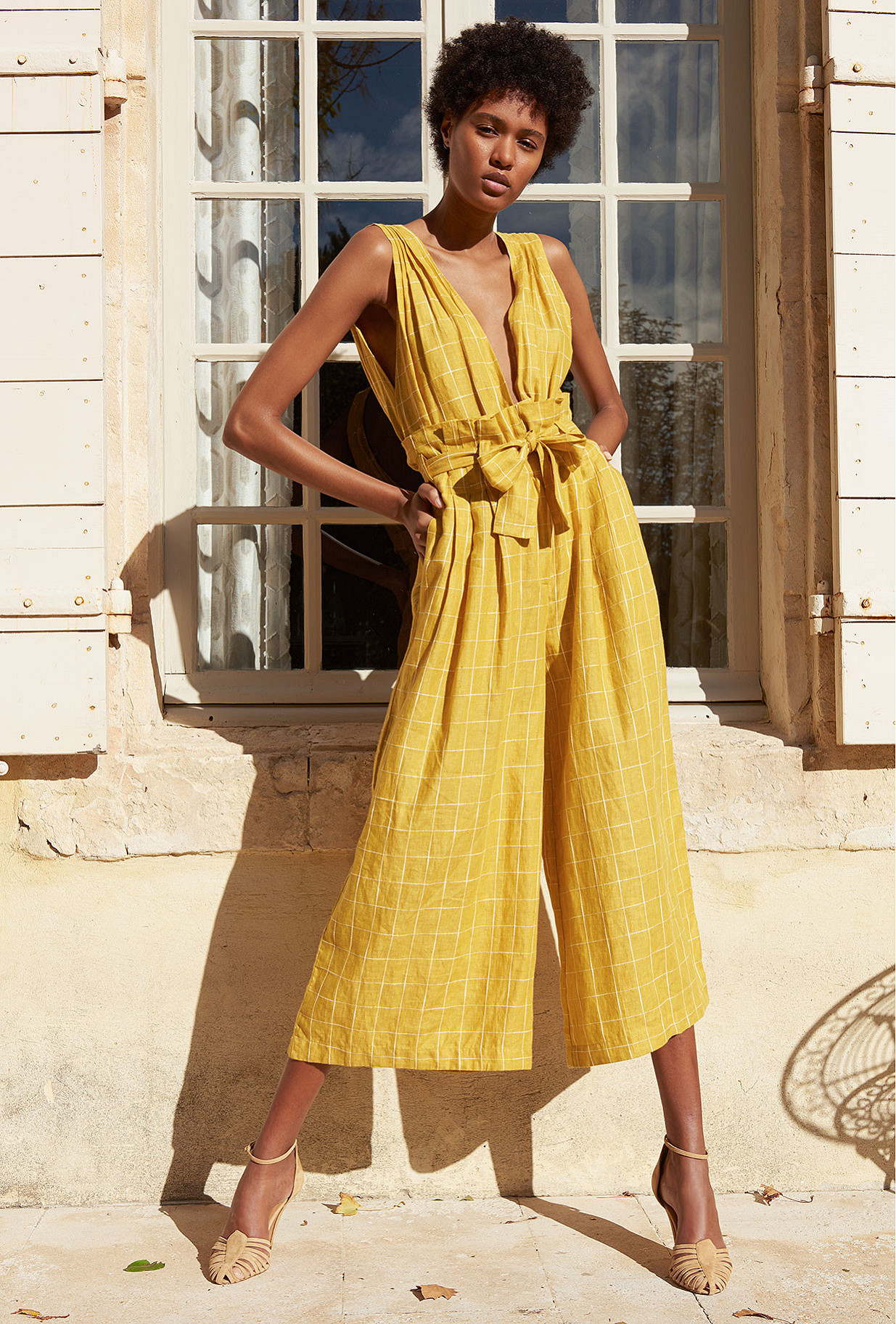 Yellow  Pant  Cancun Mes demoiselles fashion clothes designer Paris