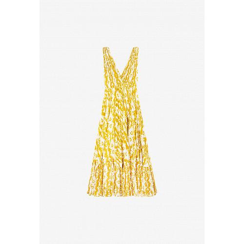 Yellow print  Dress  Samarcande Mes demoiselles fashion clothes designer Paris