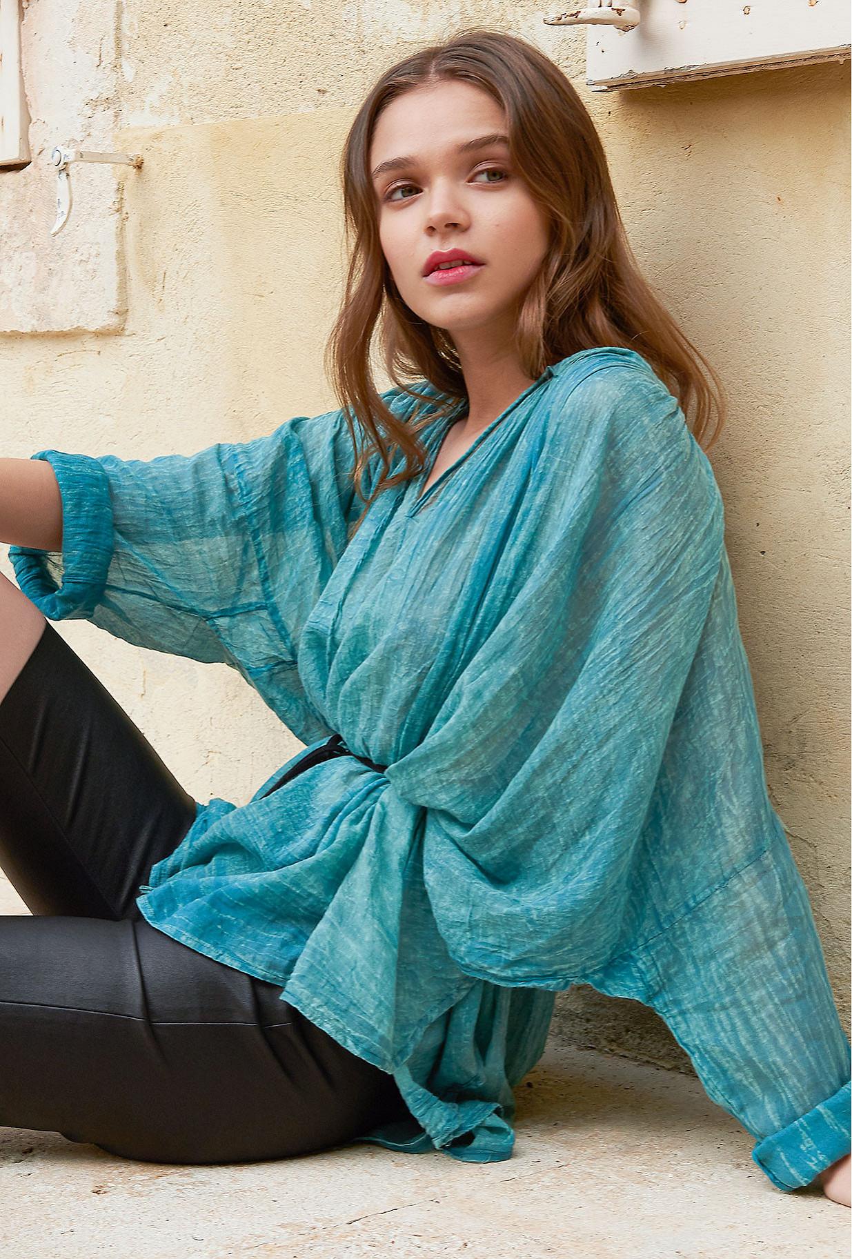 Blouse Bleu  Paysage mes demoiselles paris vêtement femme paris