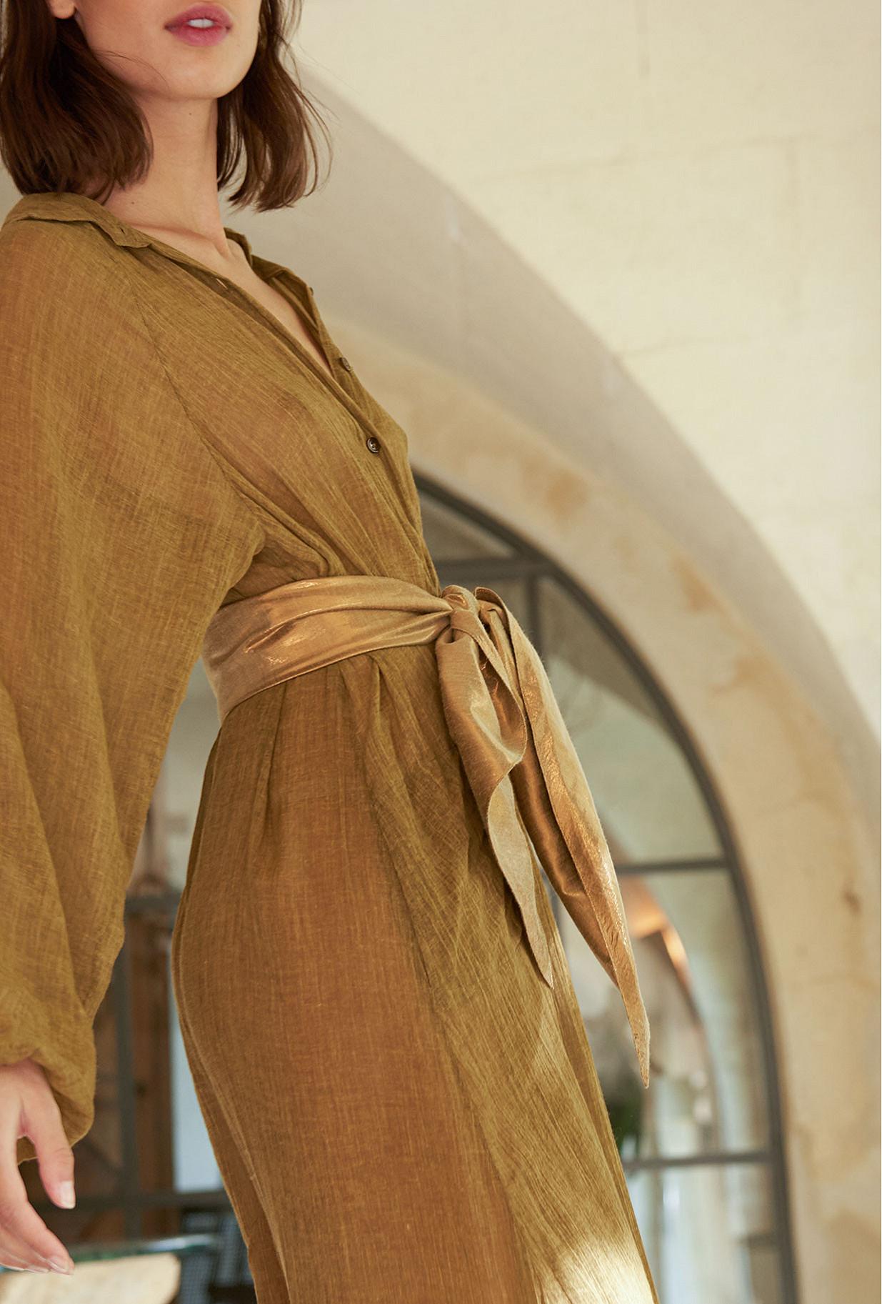 Bronze  Belt  Lutetia Mes demoiselles fashion clothes designer Paris
