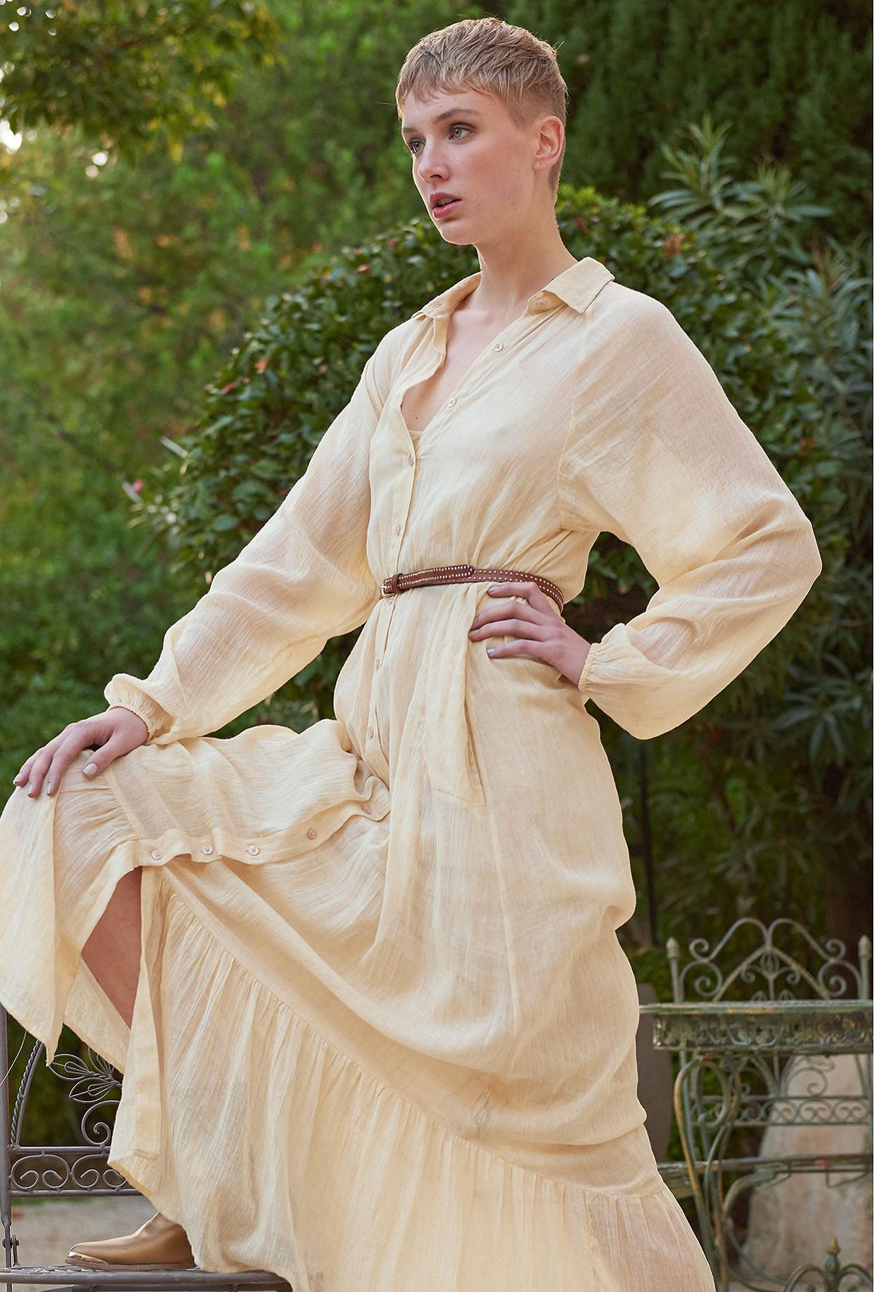 Robe Beige  Chambellan mes demoiselles paris vêtement femme paris