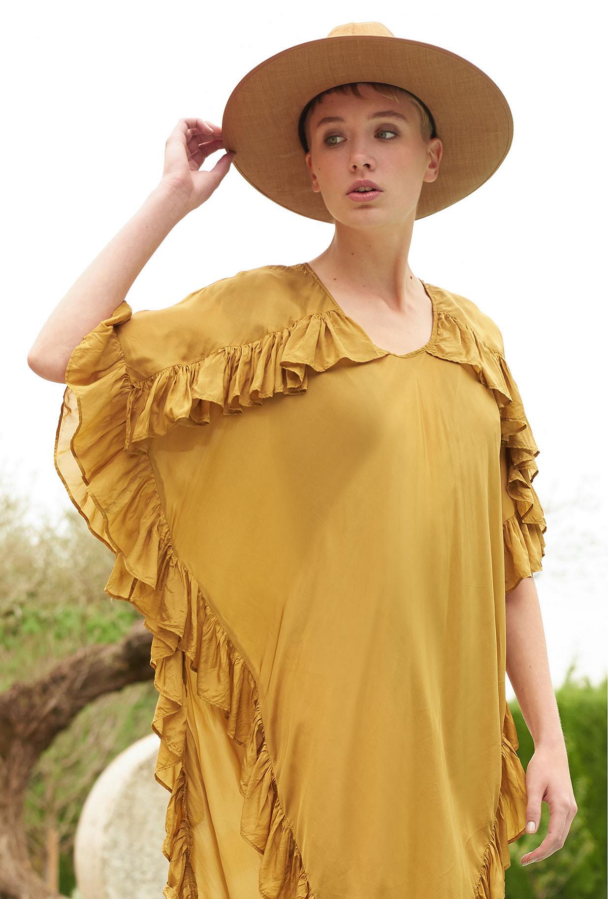 Khaki  Poncho  Coronado Mes demoiselles fashion clothes designer Paris