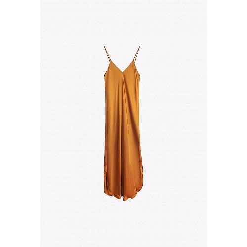 Ocre  Dress  Tess Mes demoiselles fashion clothes designer Paris