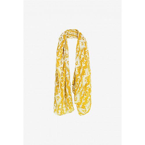 Yellow print  Scarf  Soma Mes demoiselles fashion clothes designer Paris