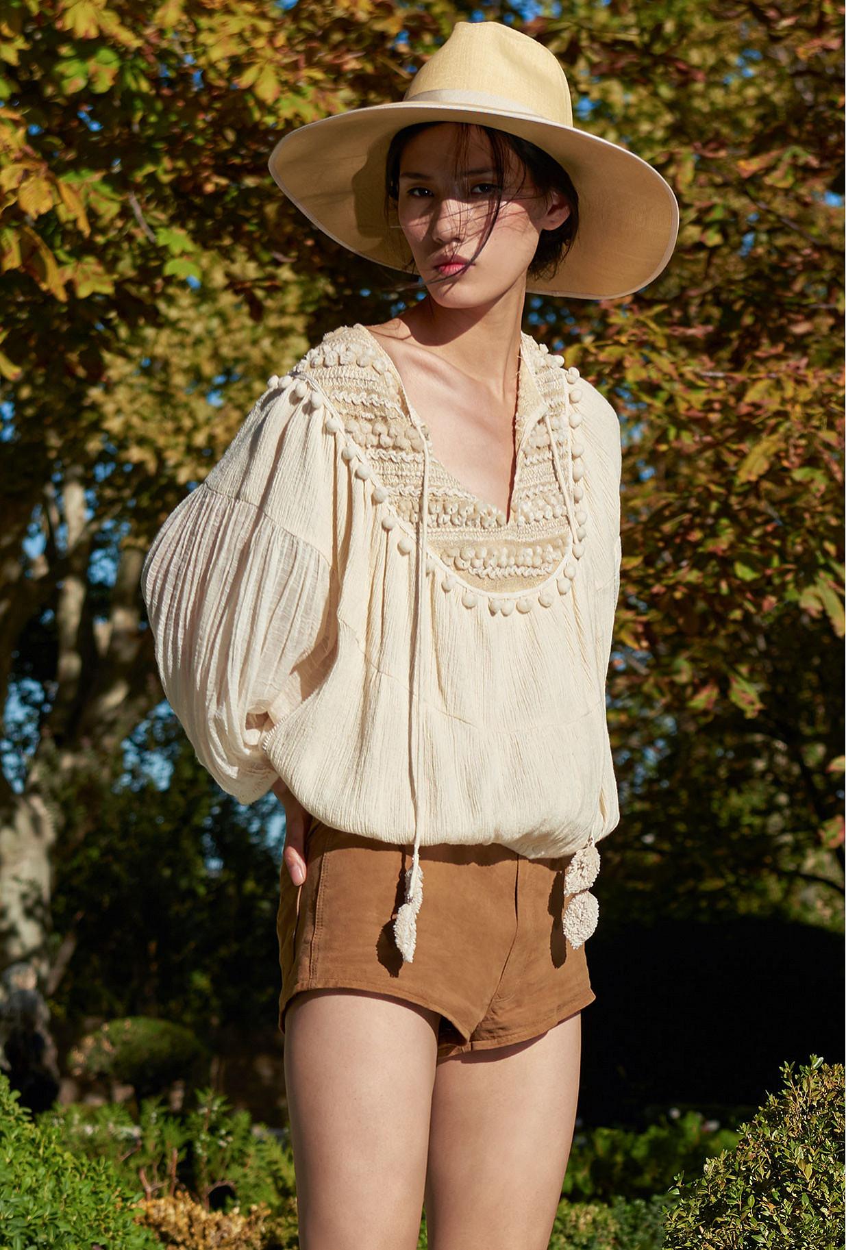 Blouse Naturel  Candide mes demoiselles paris vêtement femme paris