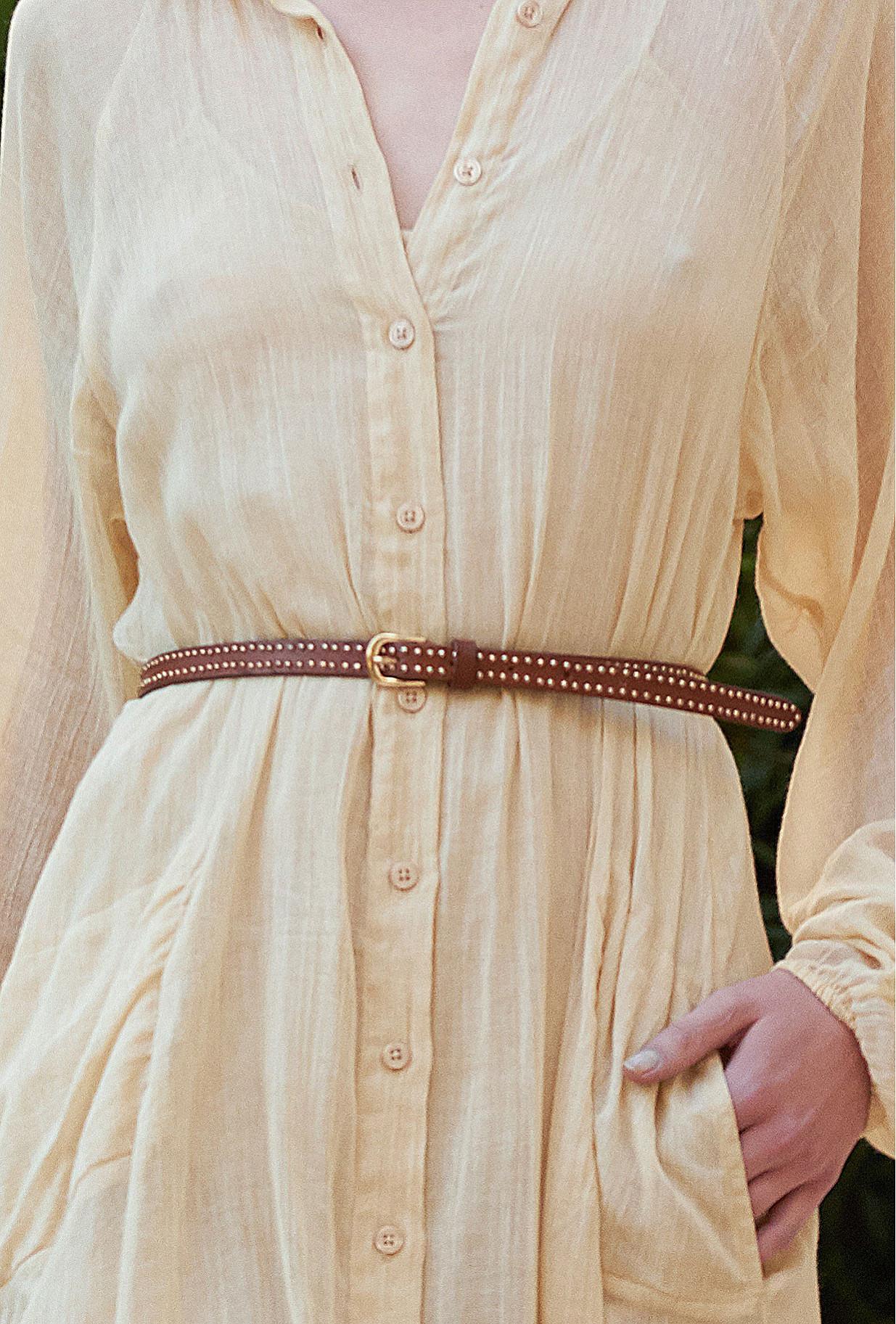 Cognac  Belt  Renegade Mes demoiselles fashion clothes designer Paris