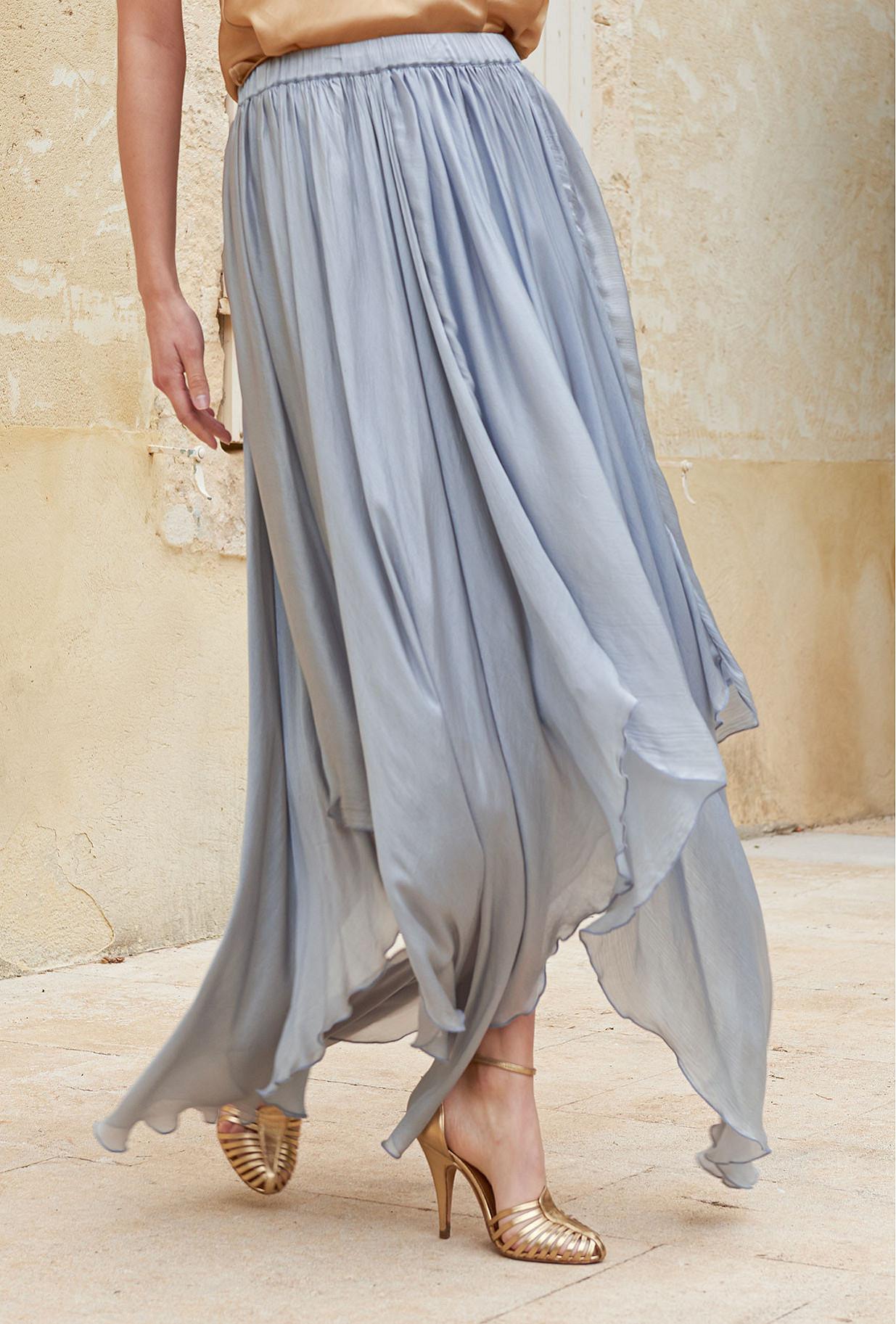 Blue  Skirt  Alizee Mes demoiselles fashion clothes designer Paris