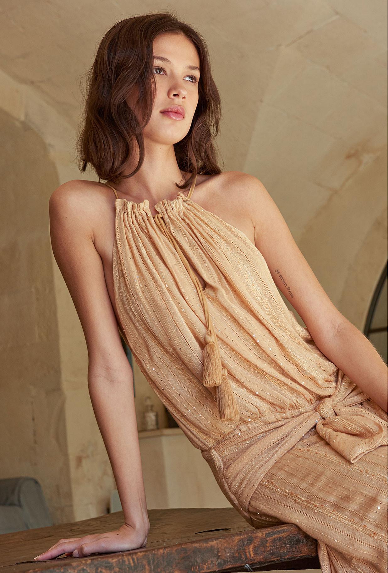 Nude  Dress  Sultane Mes demoiselles fashion clothes designer Paris