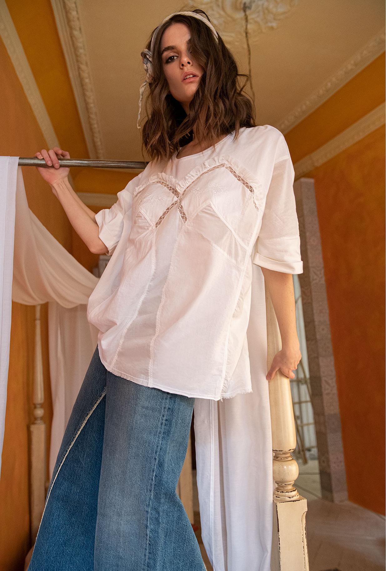 White  Top  Moore Mes demoiselles fashion clothes designer Paris