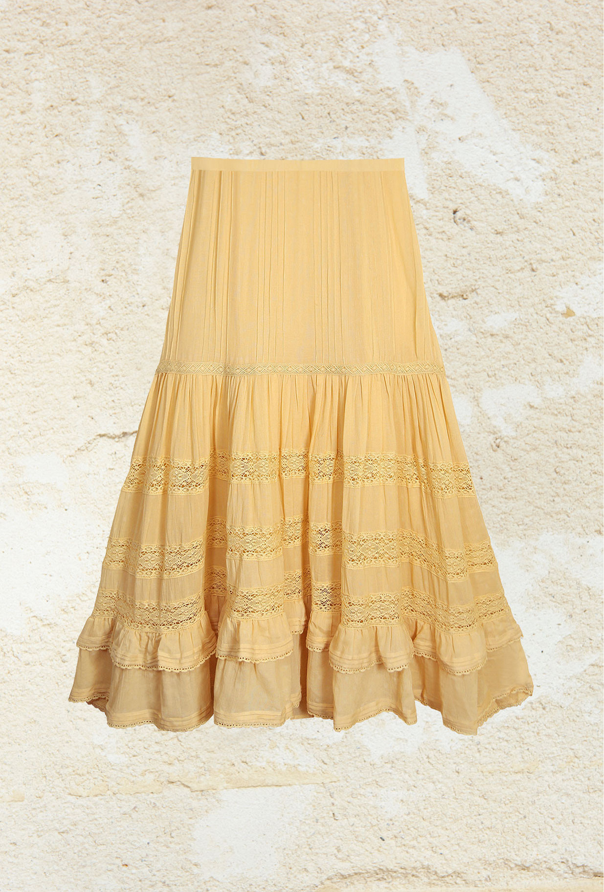 Yellow  Skirt  Gretchen Mes demoiselles fashion clothes designer Paris