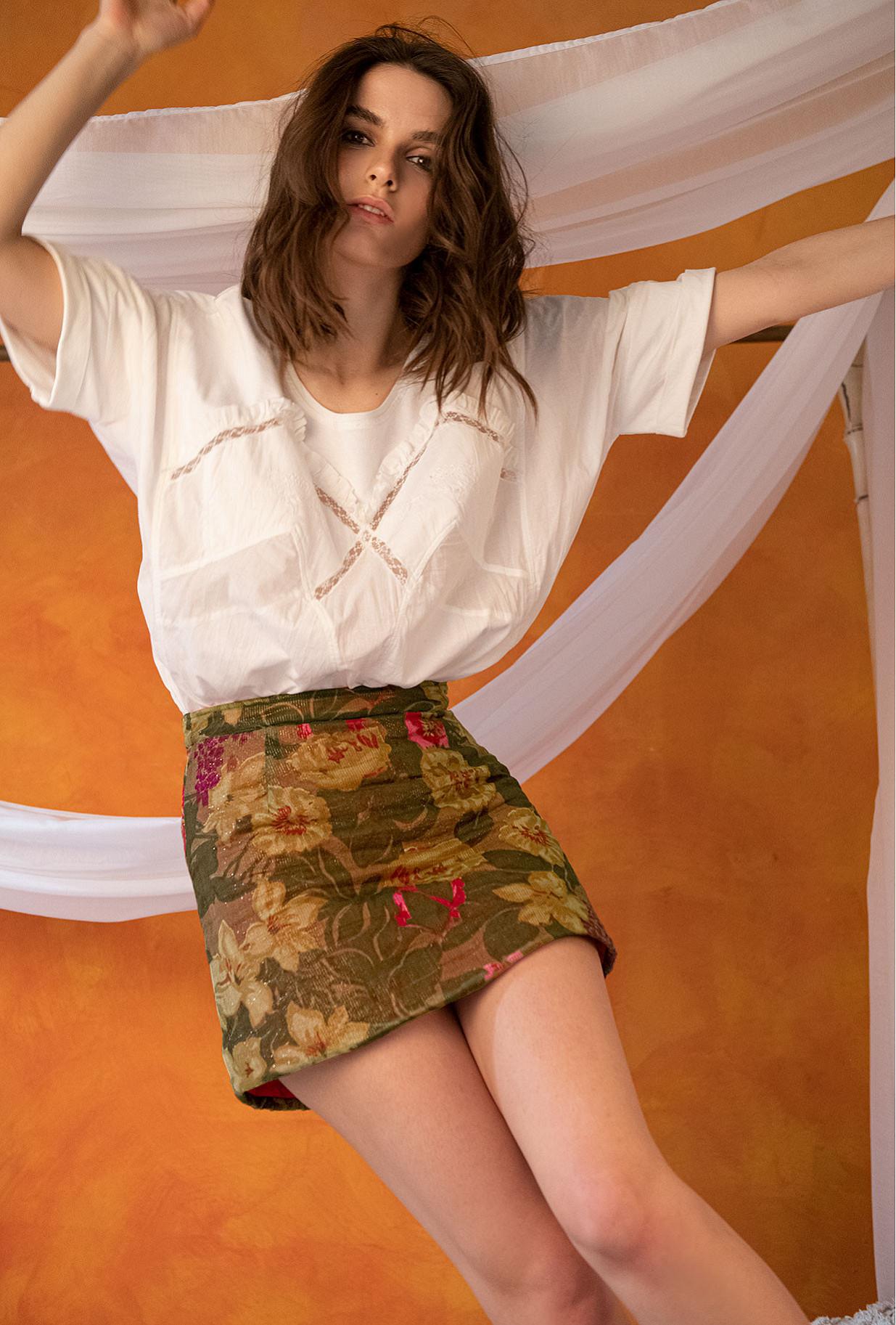 Skirt Alhelis Mes Demoiselles color Floral print