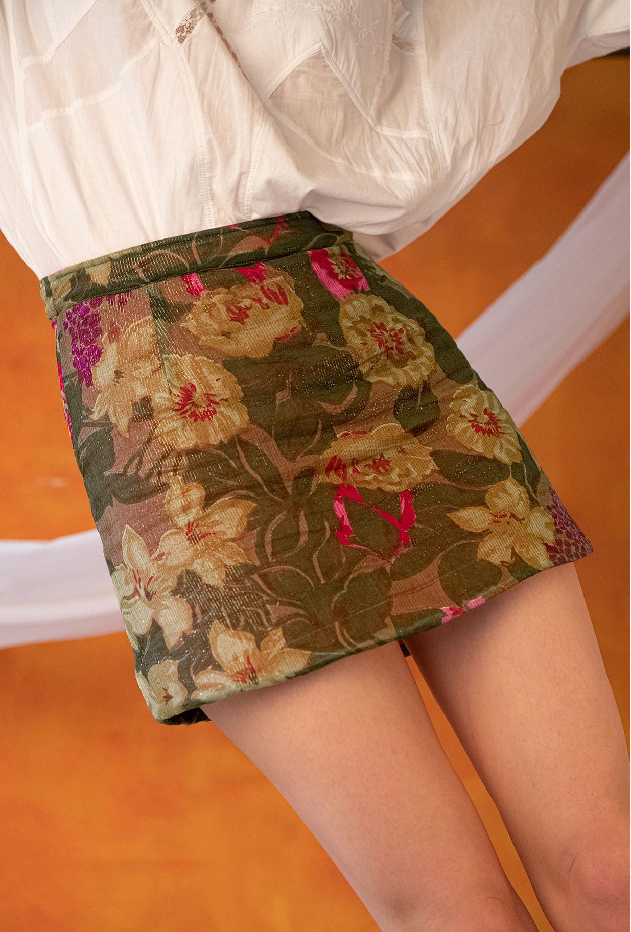 Jupe Imprimé fleuri  Alhelis mes demoiselles paris vêtement femme paris