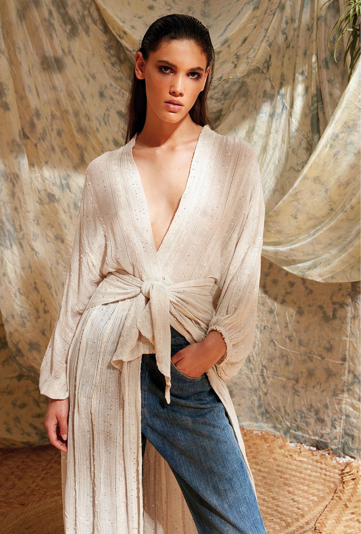 Kimono Ivoire Semiramis Mes Demoiselles Paris