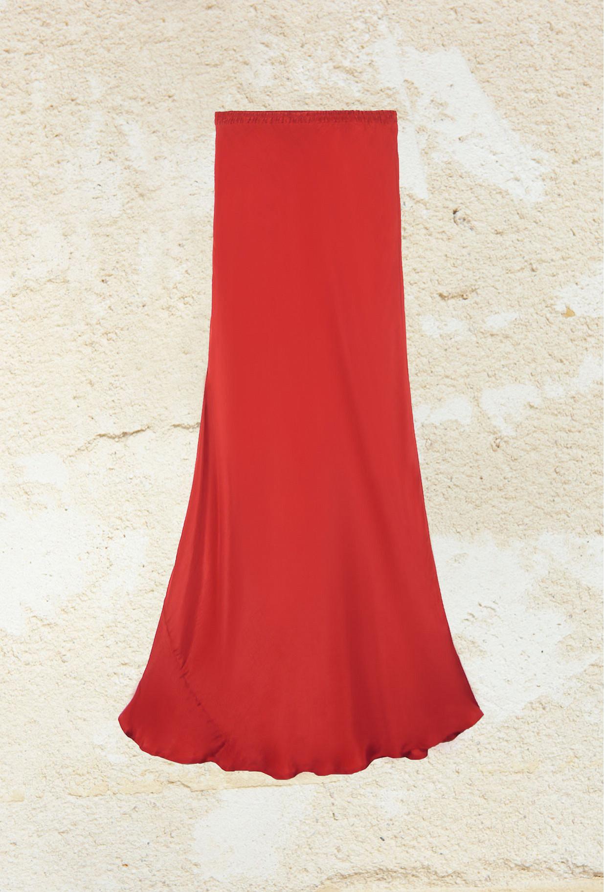 Red  Skirt  Mogador Mes demoiselles fashion clothes designer Paris