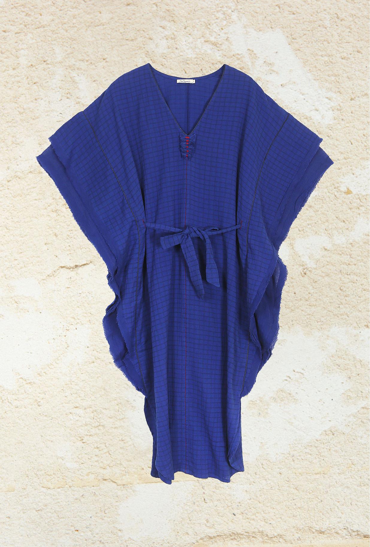 Dress Mona Mes Demoiselles color Blue