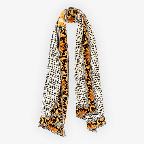 Gold print Scarf Savas Mes Demoiselles Paris