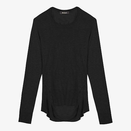 pull noir femme mode