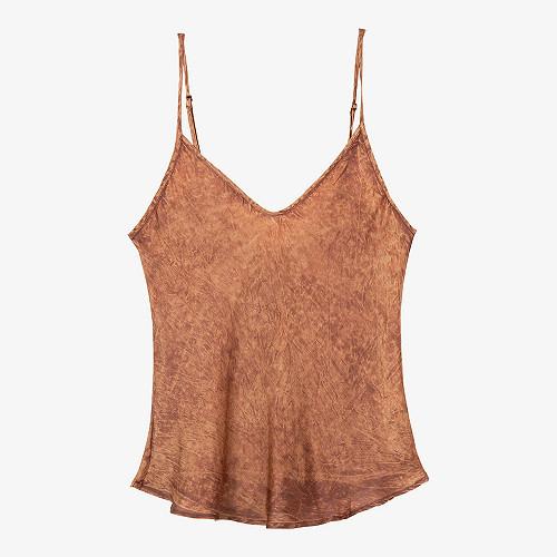 Terracotta  Top  Lisa Mes demoiselles fashion clothes designer Paris