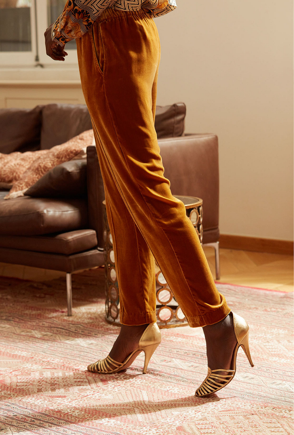 Ocre  Pant  Belami Mes demoiselles fashion clothes designer Paris