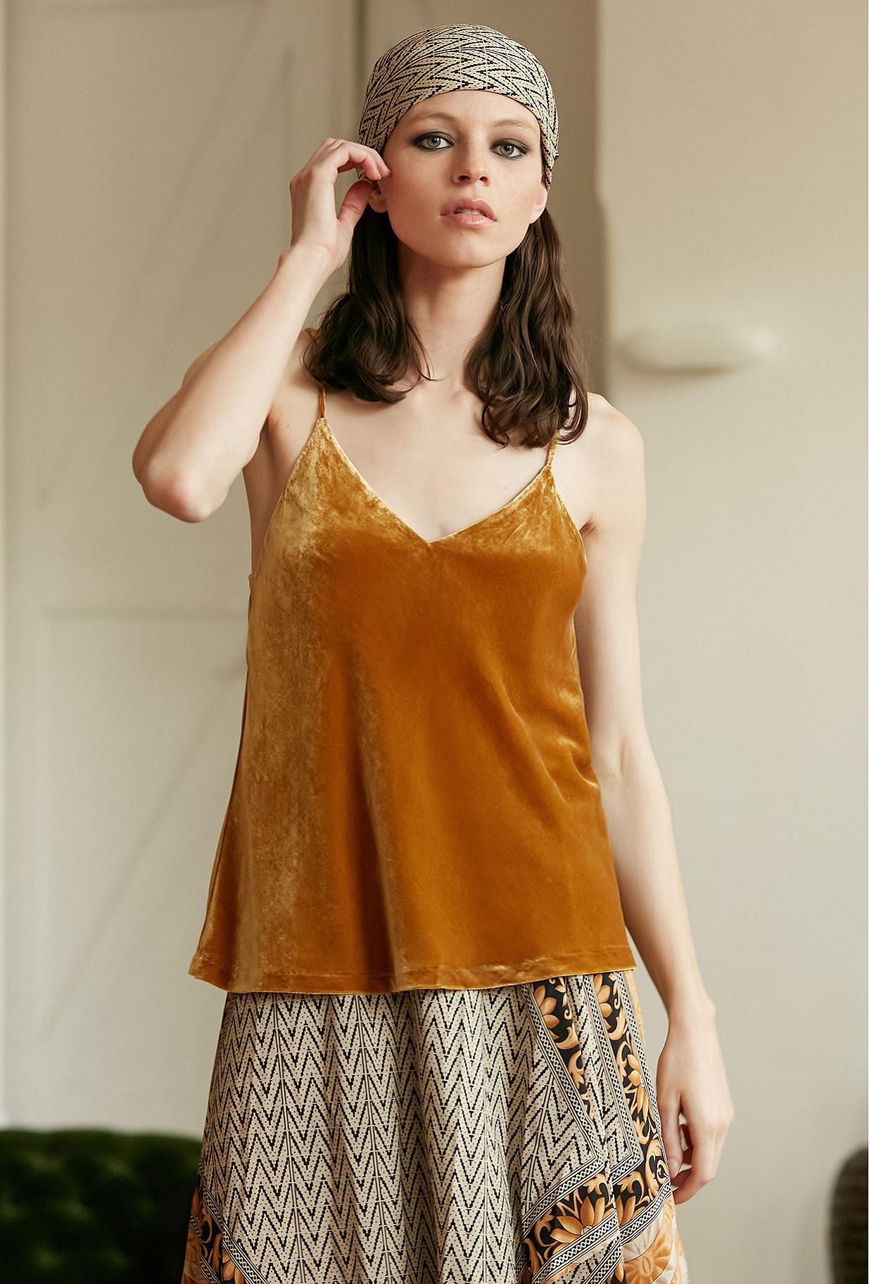 Ocre  Top  Berlioz Mes demoiselles fashion clothes designer Paris