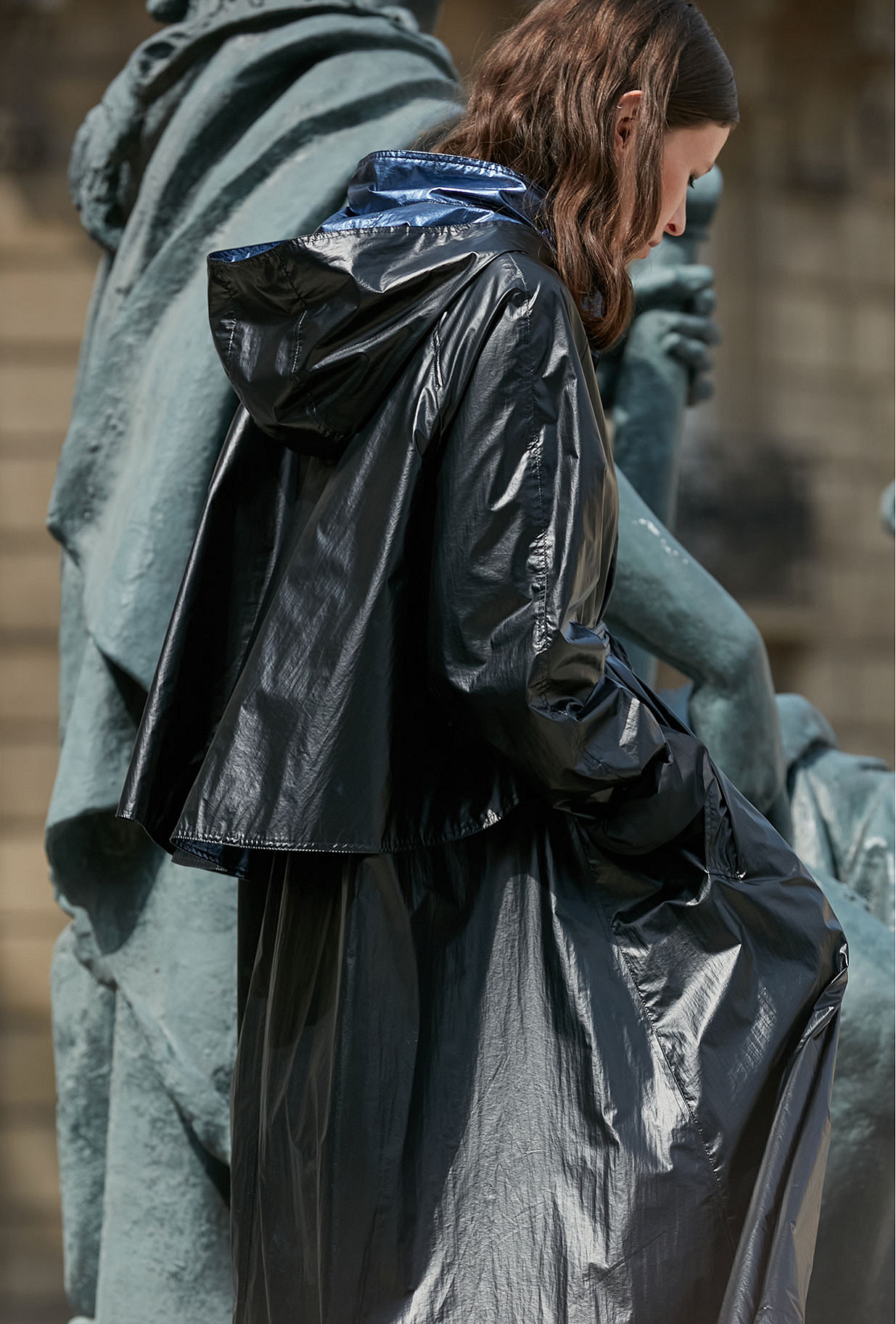 Manteau Noir et Bleu  Churchill mes demoiselles paris vêtement femme paris