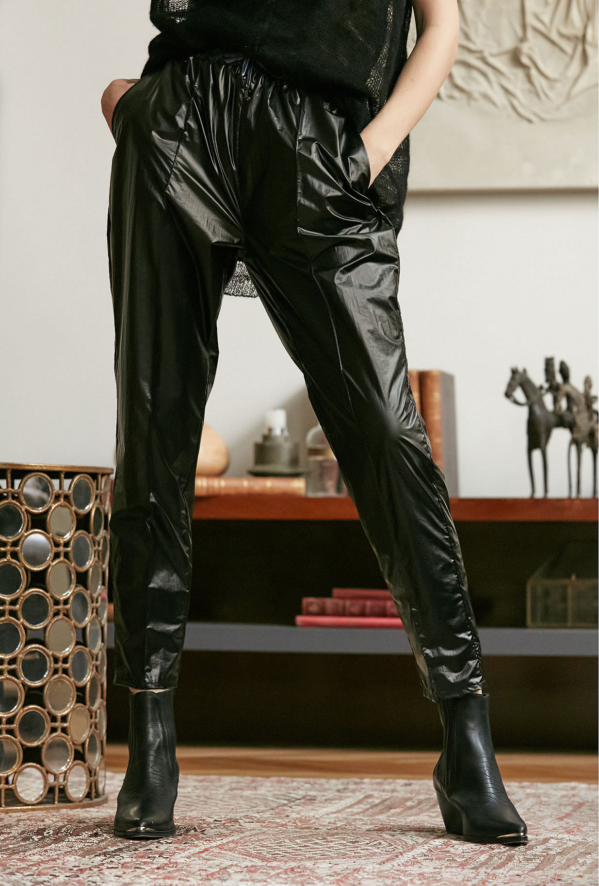 Black blue  Pant  Clemenceau Mes demoiselles fashion clothes designer Paris