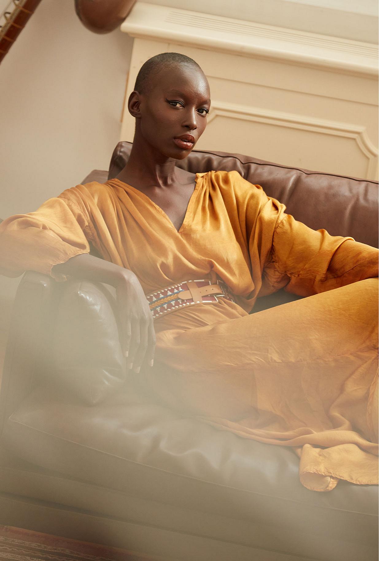 Ocre  Dress  Lerida Mes demoiselles fashion clothes designer Paris