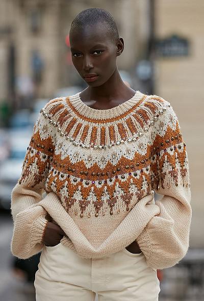 Ecru  Sweater  Maharadjah Mes demoiselles fashion clothes designer Paris