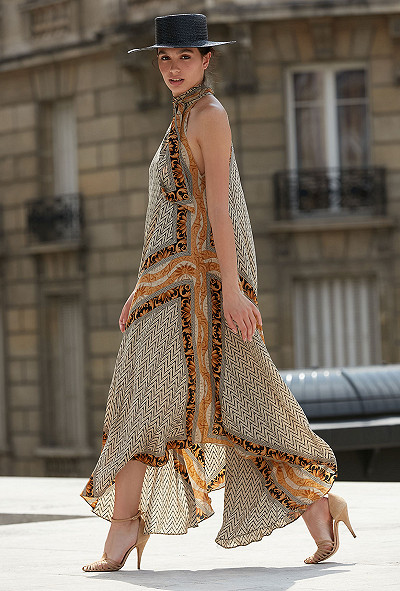 Gold print Dress Scelerate Mes Demoiselles Paris