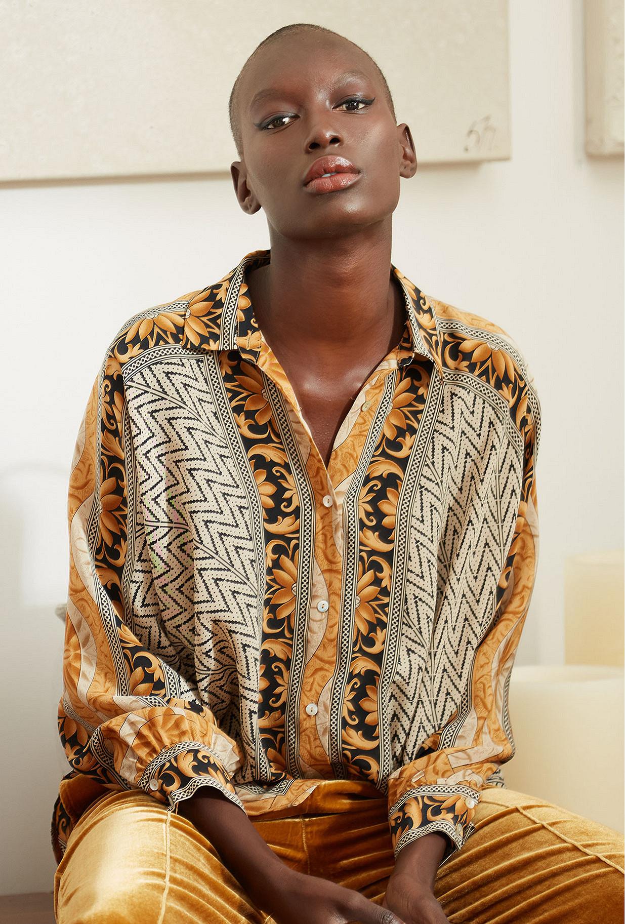 Gold print Shirt Shallow