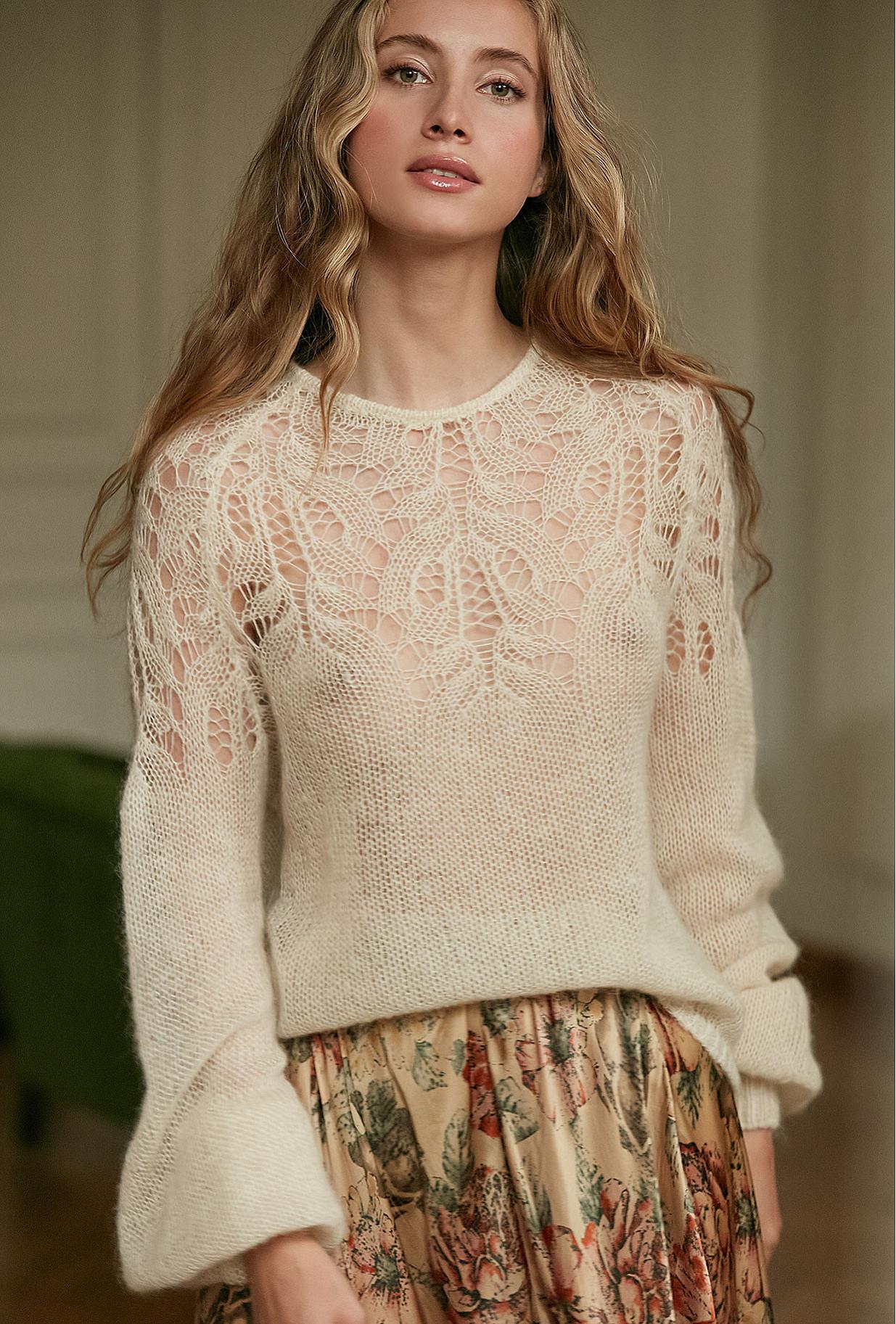 Sweater Vivienne Mes Demoiselles color Natural