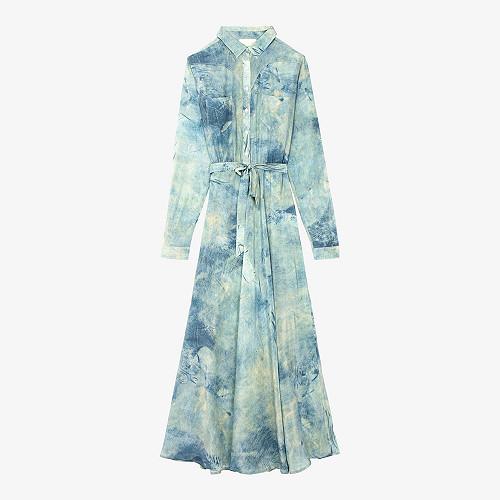 Robe - Imprimé bleu - Sumac Mes Demoiselles Paris