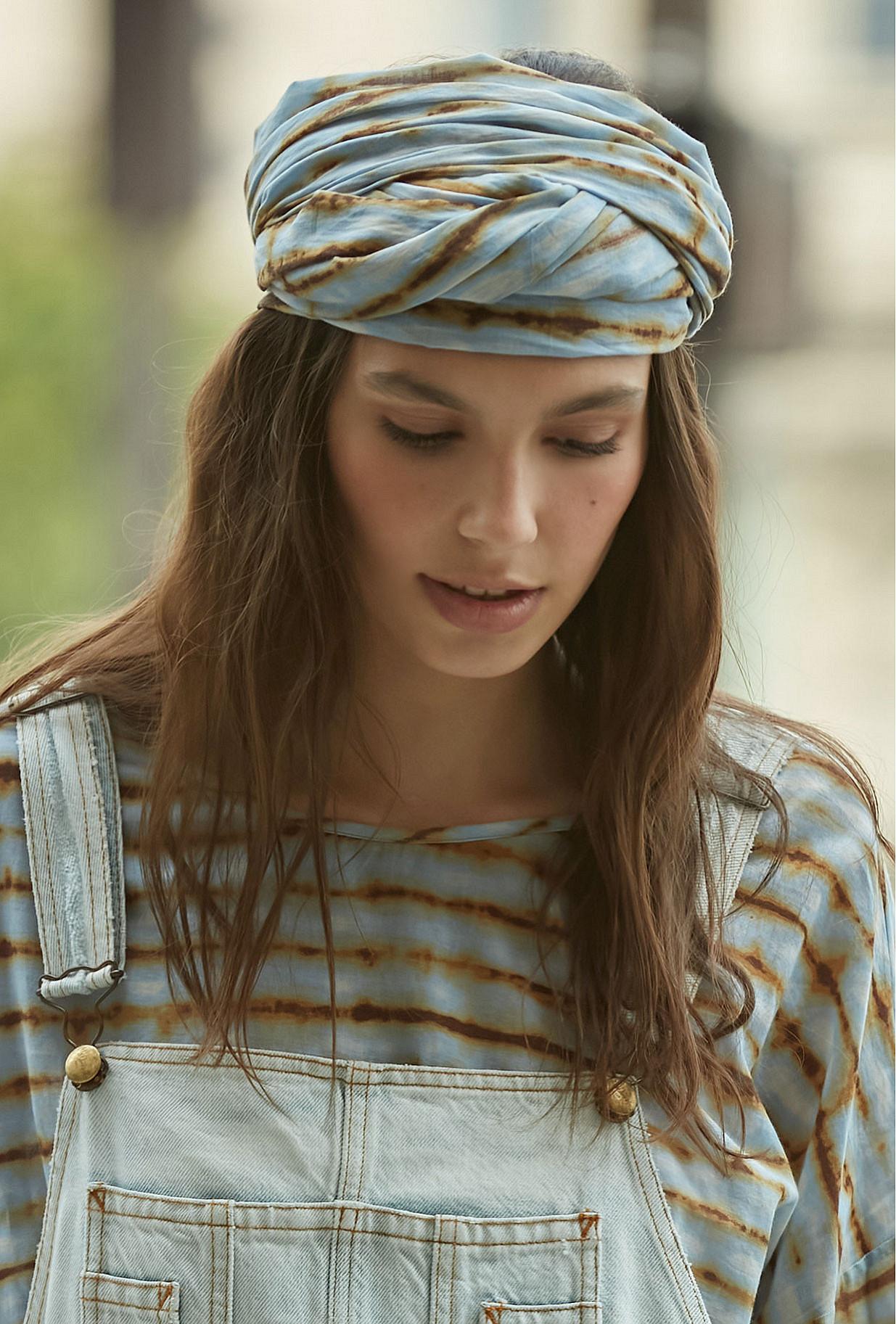 - Blue print - Scarf Noble Mes Demoiselles Paris