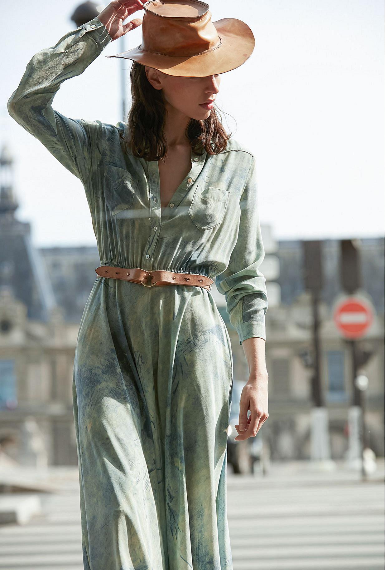 - Blue print - Dress Sumac