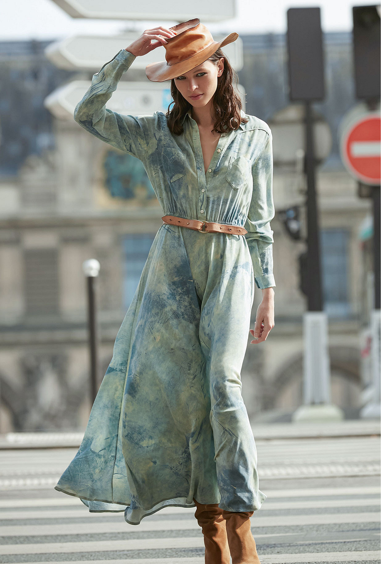 Robe Imprimé bleu  Sumac mes demoiselles paris vêtement femme paris